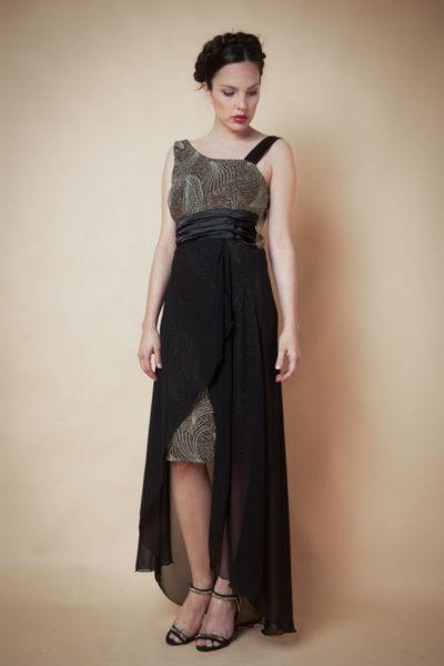 Vestido hombro descubierto combinado . Cómoda , venta de ropa por mayor en Flores. Fabricantes de Vestidos , Blusas , Palazzos y Remeras.