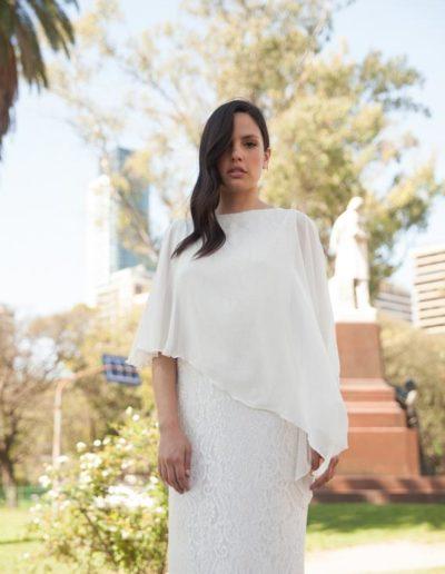 Vestido Jackie Largo con Capa.Cómoda , venta mayorista de ropa en Zona Comercial Avellaneda , Flores. Fabricantes de Vestidos , Blusas , Palazzos y Remeras